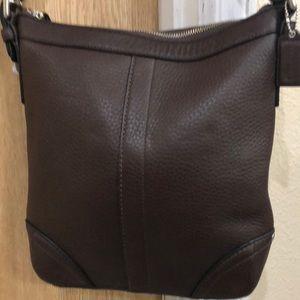 NWT Coach genuine brown leather shoulder bag